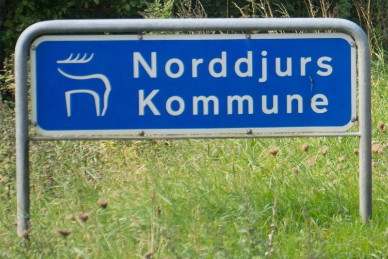 Norddjurs Kommune vejskilt
