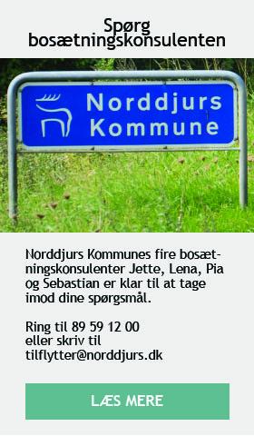 Find kontaktinfo til bosætningskonsulenter i Norddjurs Kommune