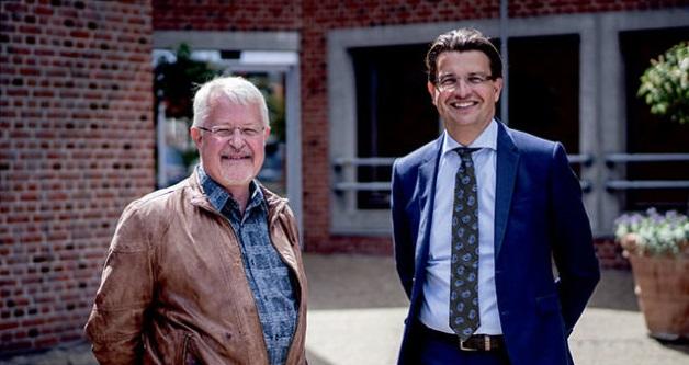 Borgmester Jan Petersen og Kommunaldirektør Christian Bertelsen