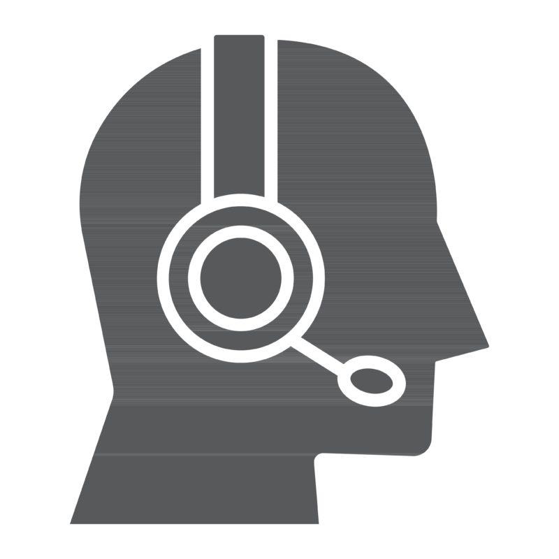 Ikon: Mand med headset.