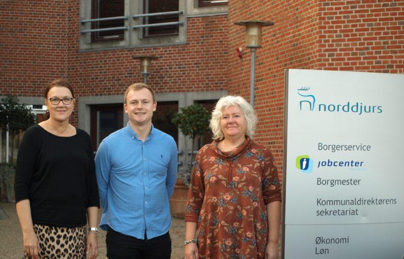 Norddjurs Kommunes 3 bosætningskonsulenter: Pia, Sebastian og Dorthe